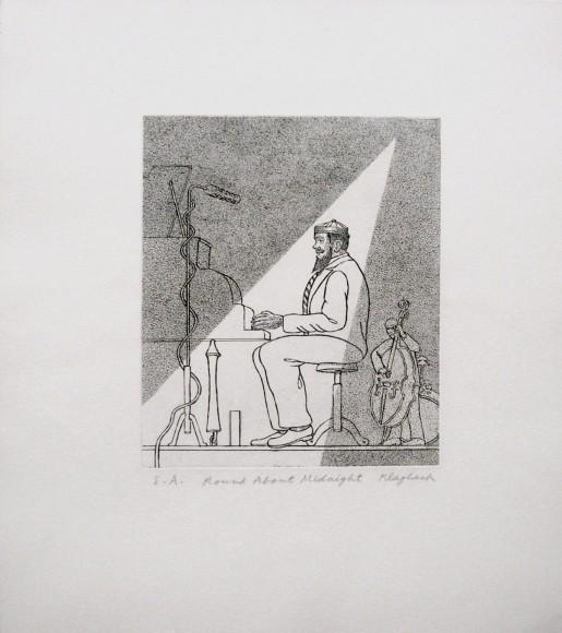 Konrad Klapheck, Round about Midnight, 2010