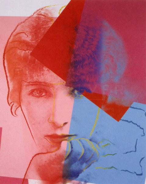 "Andy Warhol, Sarah Bernhardt (FS II.234), from the Portfolio ""Ten Portraits of Jews of the Twentieth Century"", 1980"