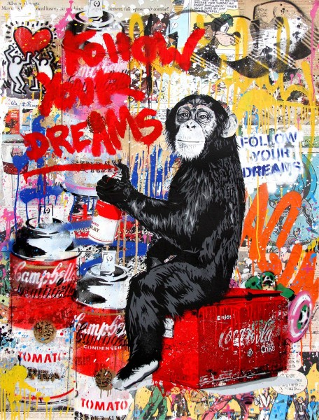 Mr. Brainwash, Every Day Life - Follow Your Dreams (Keith Haring), 2017