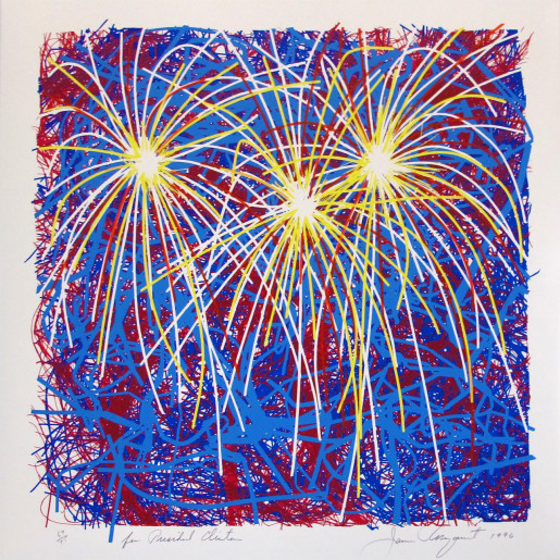 James Rosenquist, Fireworks for President Clinton, 1996