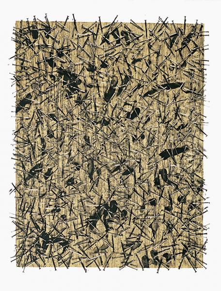 "Günther Uecker, Untitled from the Portfolio ""Kinderstern"", 1989"