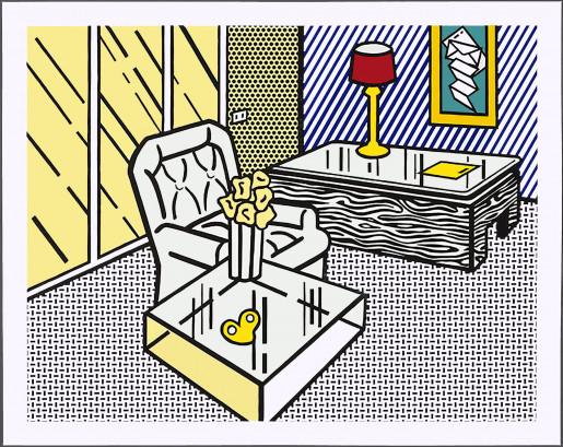 """Roy Lichtenstein, The Den, from """"Interior"""" series, 1990"""