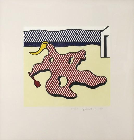 """Roy Lichtenstein, Nude on Beach from the """"Surrealist Series"""", 1978"""