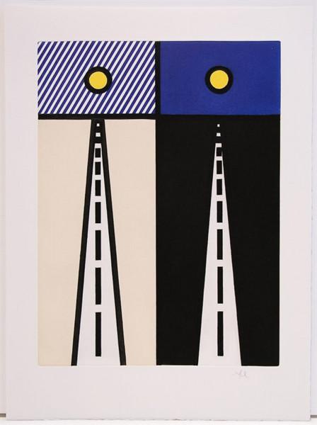 Roy Lichtenstein, Illustration for 'Auto Poésie: en Cavale de Bloomington', from La Nouvelle Chute de l'Amérique, 1992