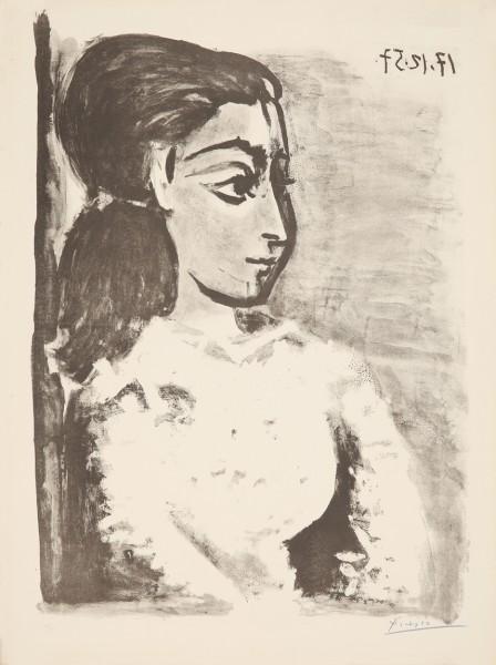 Pablo Picasso, Buste de Femme au Corsage blanc, 1957