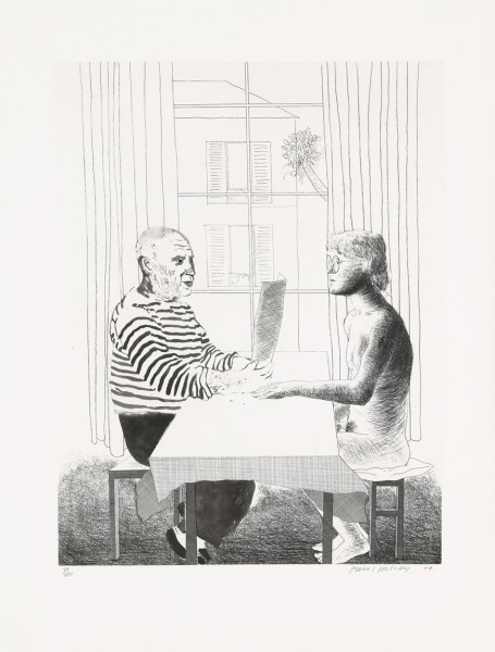 David Hockney, Artist and Model, 1973/1974
