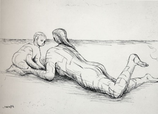Henry Moore, Mother and Child XIX, 1983