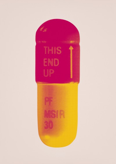 Damien Hirst, The Cure - Powder Pink/Lollypop Red/Golden Yellow, 2014