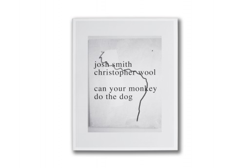 Christopher Wool & Josh Smith, Can your monkey do the dog, 2007