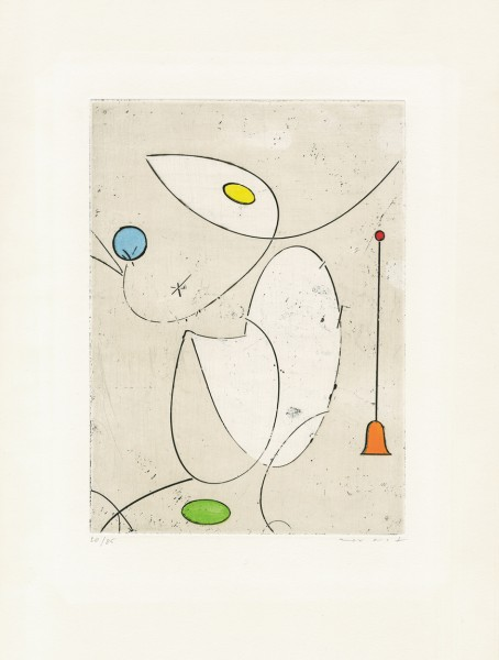 Max Ernst, La cloche rouge, 1970