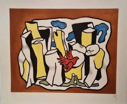 Fernand Léger, L'Oiseau Rouge dans le Bois, 1953