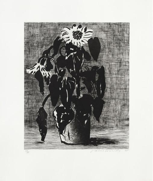 David Hockney, Sunflower I, 1995