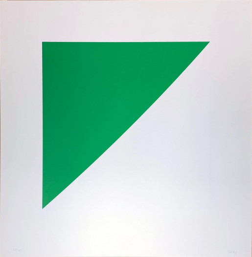Ellsworth Kelly, Green Curve with Radius of 20', 1974