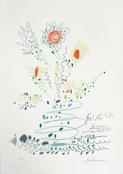 Pablo Picasso, Fleurs (for UCLA), 1961