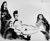 Jacqueline, as Nude Maja, with Celestine and two Musketeers, from: Suite 347