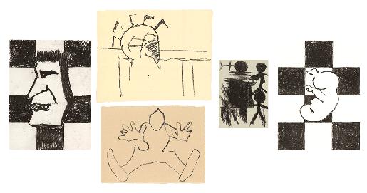 Joe Bradley, 5 Lithographs, 2015