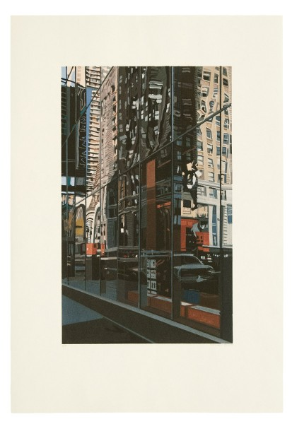 Richard Estes, Detail, Times Square, 2000