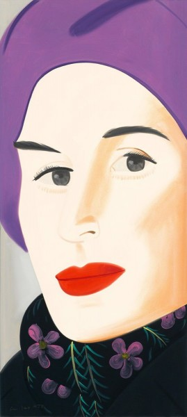 Alex Katz, Purple Hat (Ada), 2017