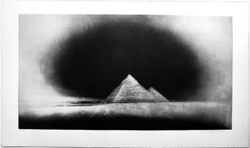 Vera Lutter, Chephren and Cheops Pyramids, Giza: January 28, 2010, 2010-11