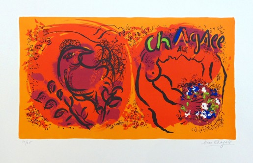 Marc Chagall, Lithographs I (Cover) | Couverture Jaquette, Lithographie I, 1960