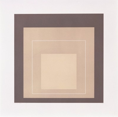 "White Line Square XIV (from ""White Line Squares"" Series II) by Josef Albers"
