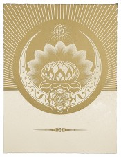 Obey Lotus Crescent (White & Gold)