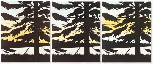 Alex Katz, Twilight 1, 2 & 3, 2009/2010