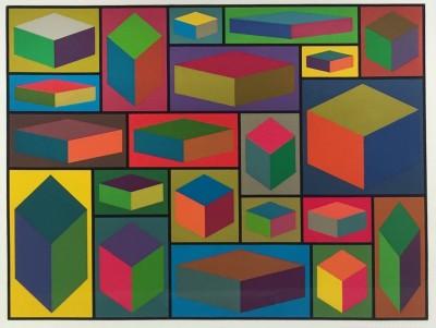 Sol LeWitt-Distorted Cubes #2