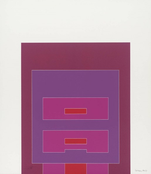 Robyn Denny, Waddington Suite (red/pink/purple), 1968-9