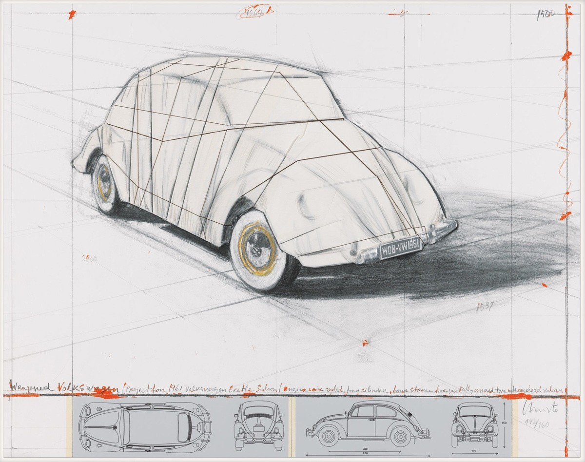 Christo-Wrapped Volkswagen (Project for 1961 Volkswagen Beetle Saloon)