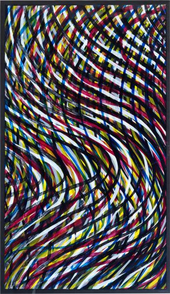 Sol LeWitt, Wavy Lines (Color), 1995