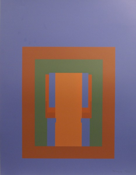 Robyn Denny, Paradise Suite (blue with brown/green inner), 1969