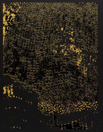 Untitled (Black Edge with Pearl) by El Anatsui