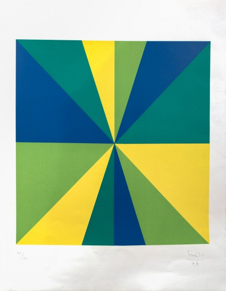 Max Bill, Four Color Quadrants in Rotation, 1973