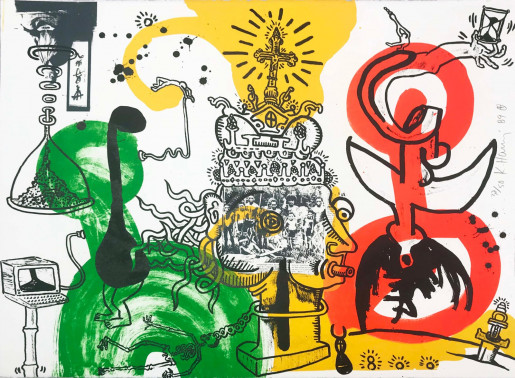 Keith Haring, The King, 1989