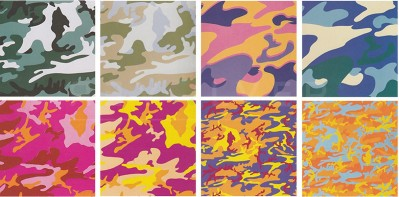 Camouflage (FS II.406-413) by Andy Warhol