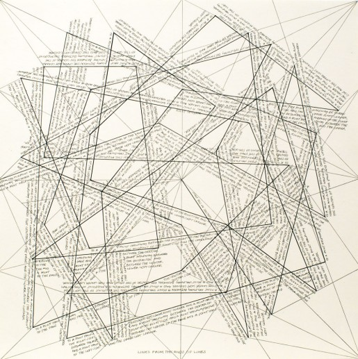 Sol LeWitt, The Location of Lines. Lines from the Ends of Lines., 1975