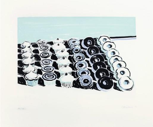 Wayne Thiebaud, Cupcakes and Donuts, 2006
