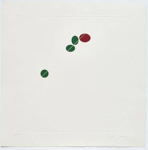 Tess Jaray, Green and Red, 1976