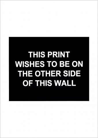 This print wishes to be on the other side of this wall by Laure Prouvost