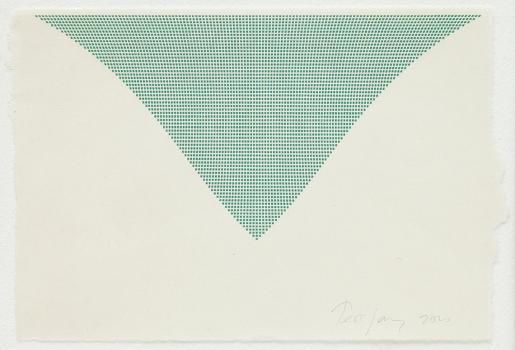 Tess Jaray, Untitled (Green Triangle), 2010