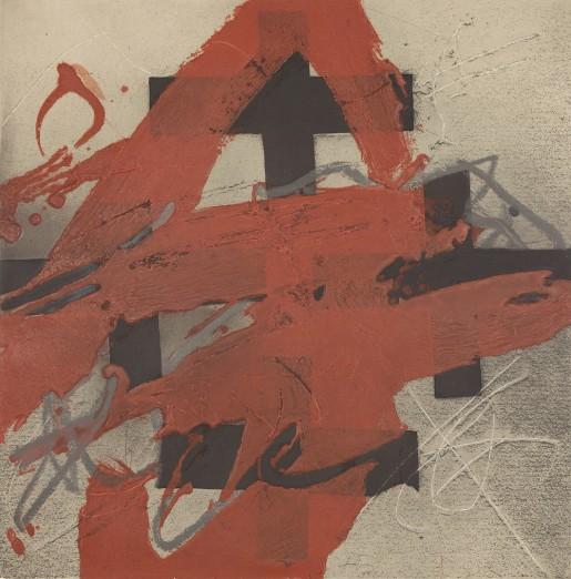 Antoni Tàpies, Cobert de roig, 1984