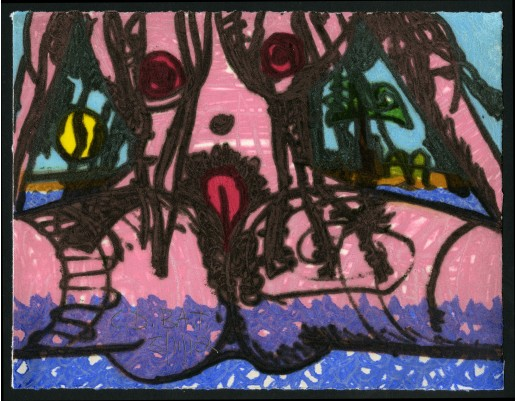 Carroll Dunham, The Nude, 2012/2013