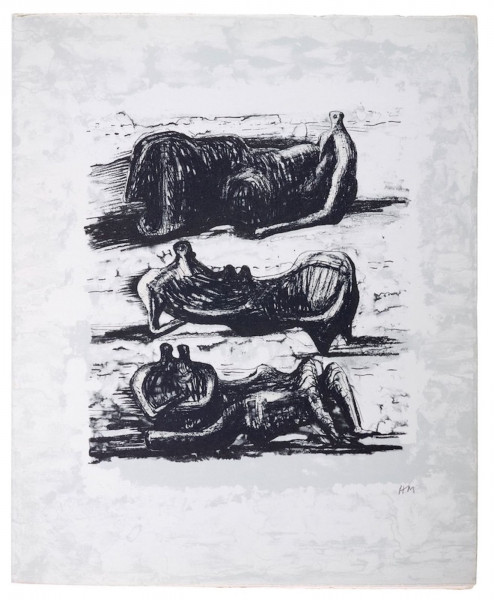 Henry Moore, Reclining Figures, 1975