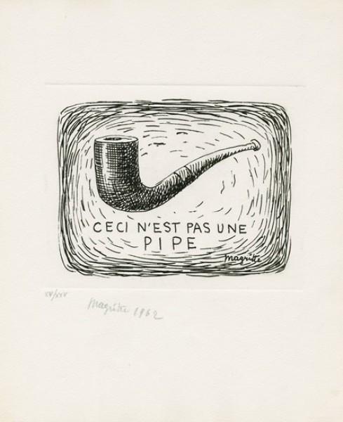 René Magritte, Ceci n'est pas une pipe (L'air et le chanson), 1962