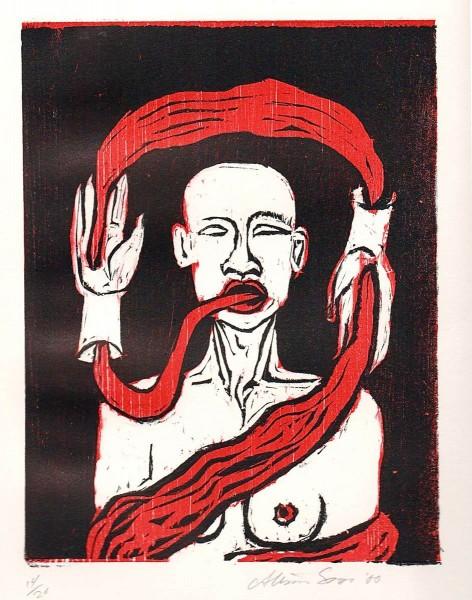 Alison Saar, Untitled (Suite of 6 woodcuts), 2000
