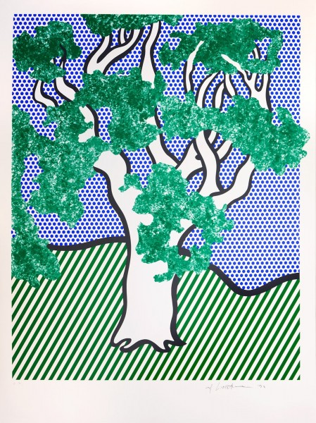 "Roy Lichtenstein, Rain Forest, from the Portfolio ""Columbus"", 1992"