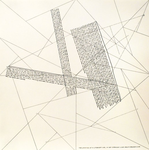 Sol LeWitt, The Location of Lines. The Location of a Straight Line. A not Straight Line and a Broken Line., 1975