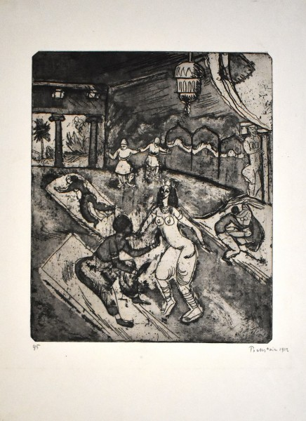 Max Pechstein, Russisches Ballett I (Russian Ballet I), 1912