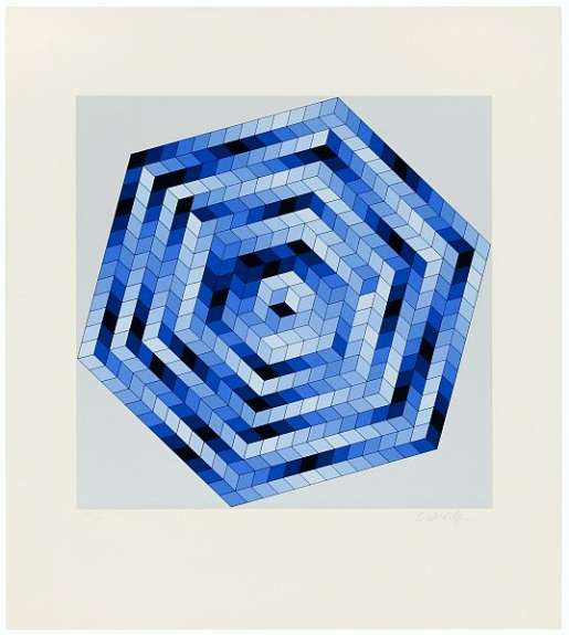 Victor Vasarely, Sette, 1988